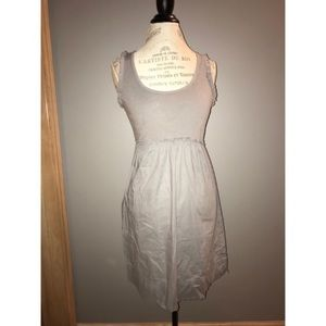 J. Crew Gray Tank Top Dress with Ruffles Size S